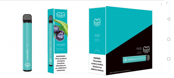 Puff Plus Disposable Vape 10 Pack - Aloe Grape