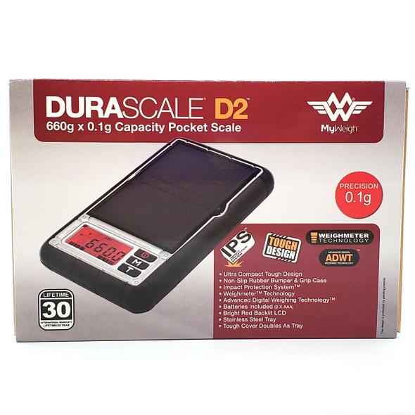 MyWeigh Durascale D2 Digital Scale 660g x 0.1g Pocket Scale