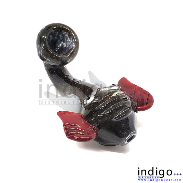 Handmade Elephant with Tusks Glass Handpipe