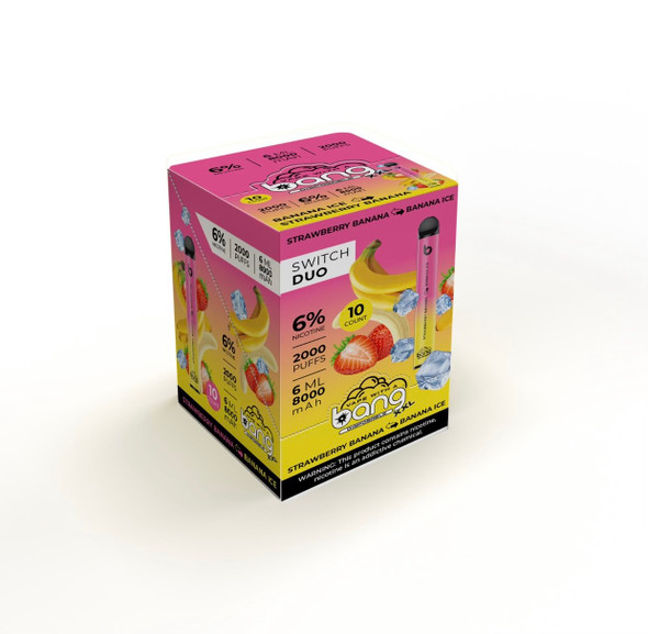 Wholesale Bang XXL Switch Duo disposable vape box of 10 - Strawberry Watermelon