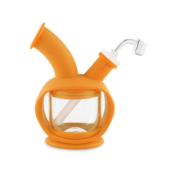 Wholesale Ooze Kettle Silicone Water Pipe orange