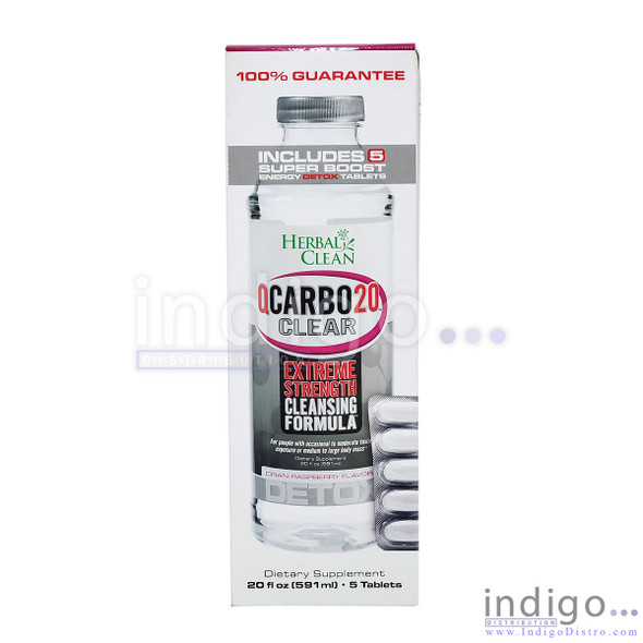 Herbal Clean QCarbo 20 Clear Extreme Strength Cleansing Formula