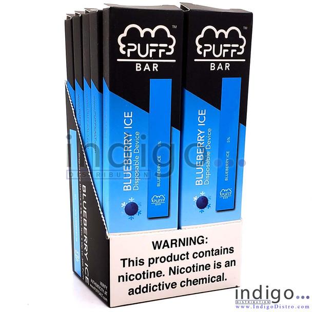 Wholesale PUFF Bar Disposable Vape - Blueberry box of 10