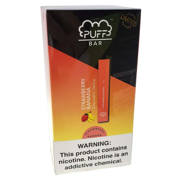 PUFF Bar Disposable Vape - LIMITED EDITION Strawberry Banana (10 pack)