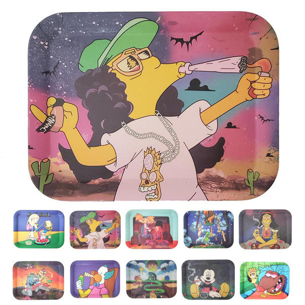 wholesale rolling trays in various sizes and characters