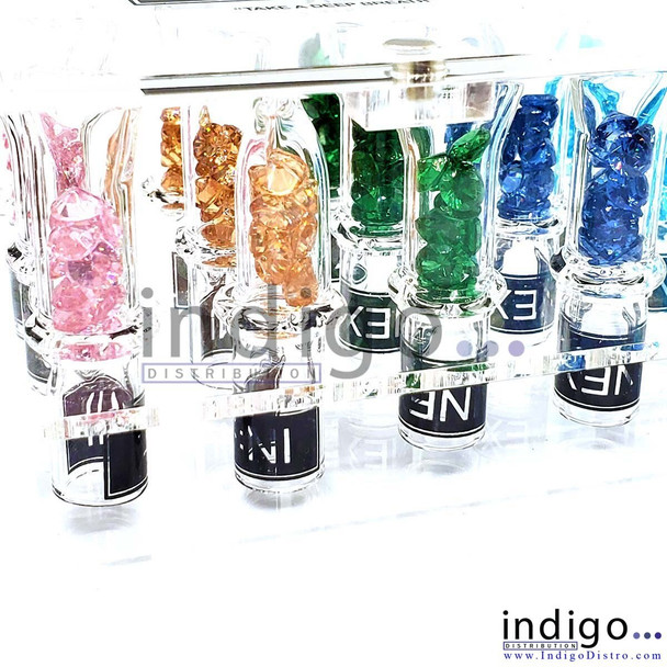 Wholesale INEX JWL glass tips with colored rocks