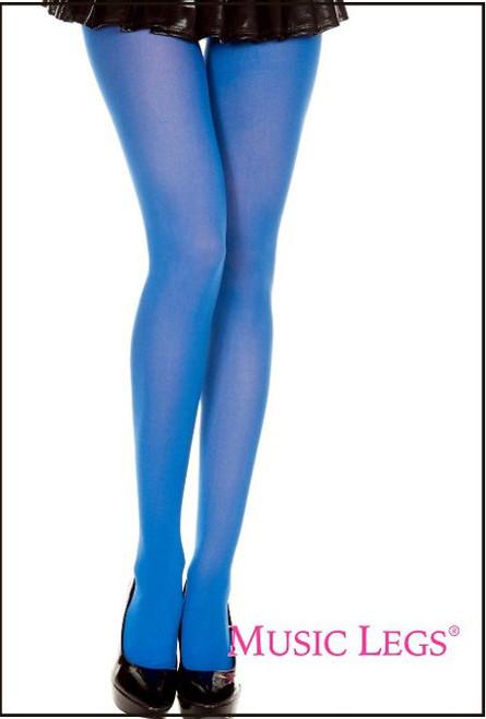 Opaque Pantyhose Royal Blue