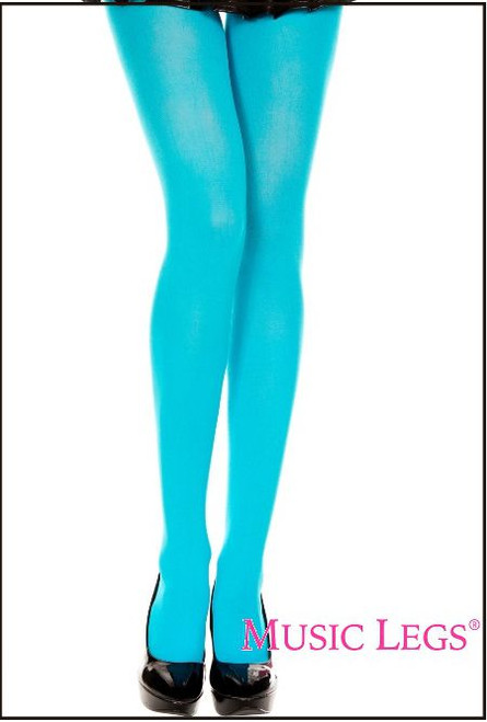 Opaque Pantyhose Turquoise