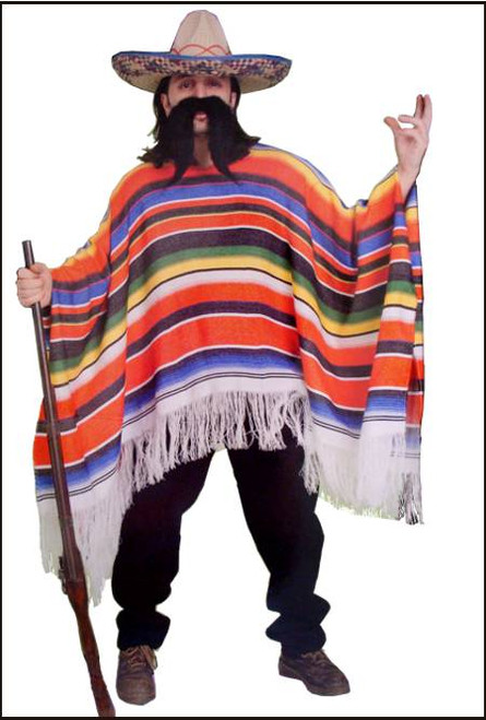 88316 mexican poncho costume