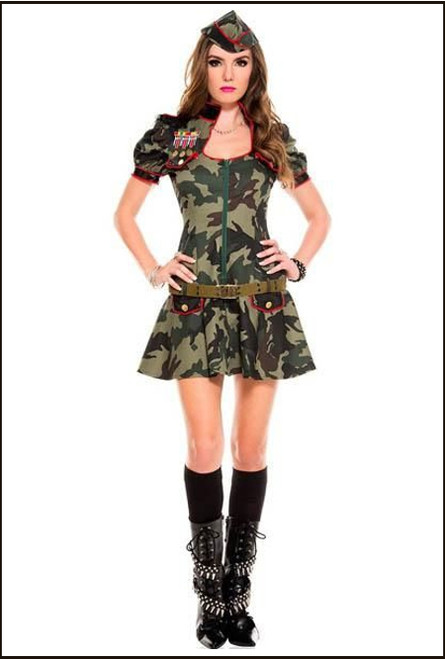 Show the men who's really in charge in the Army Womens Camoflage  Costume