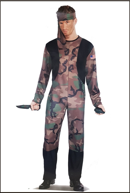 77043 Army Men Camouflage Costume