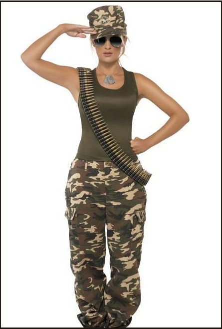 77042 Army Women Soldier Costume
