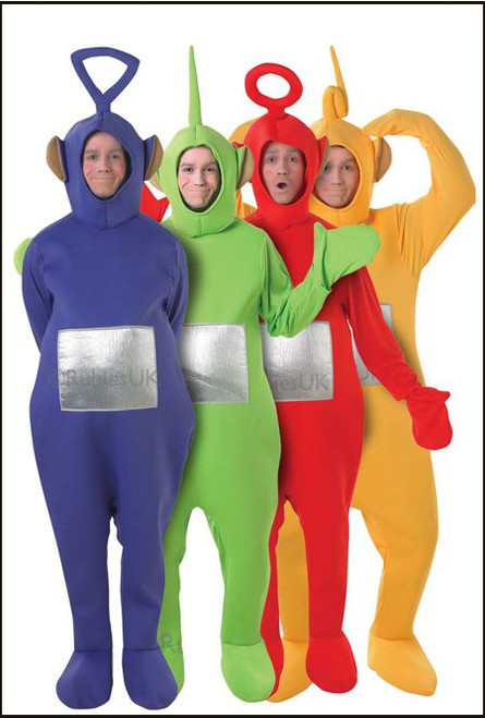 Teletubbies red green yellow purple