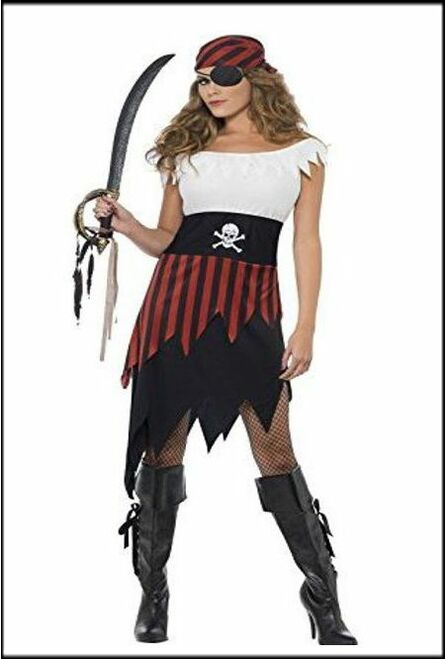 Womens fany Dress Costume Pirate Wench.