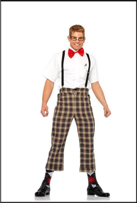 Mens 4 Piece Nerdy Ned Fancy Dress Costume.