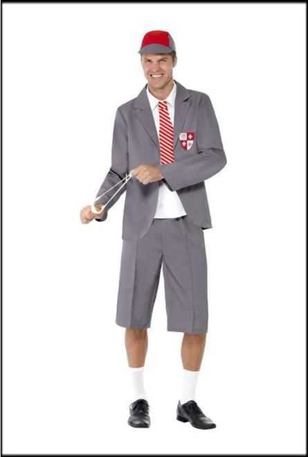 Mens Shool Boy Fancy Dress Costume.