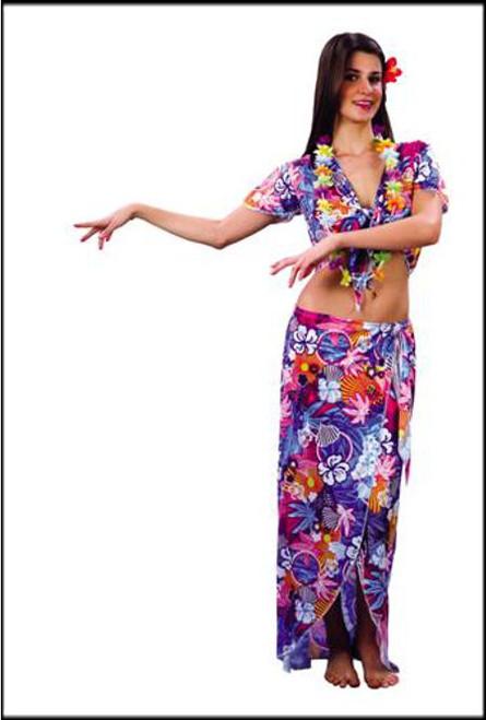 Womens Hawaiian Beauty Fancy Dress Costume.