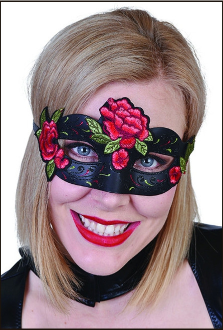 Rose bloom eye mask for masquerade fancy dress party