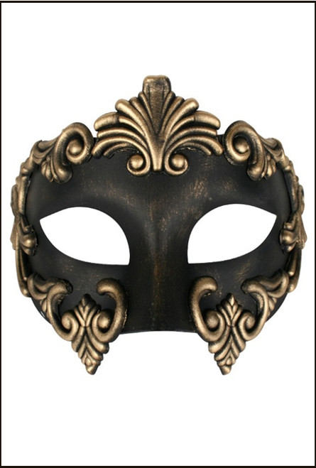 Lorenzo gold eye mask for masquerade fancy dress party costume
