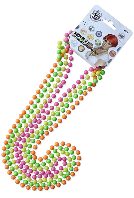 fluro beads necklace for 80s costume accessories