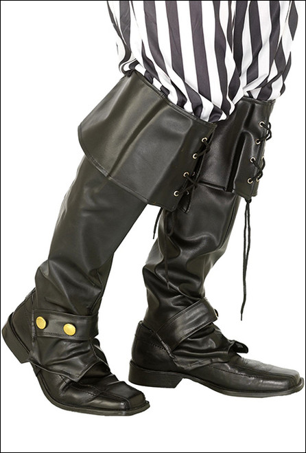Pirate boot covers for fancy dress party costume