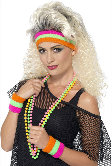 80s sweat bands  for fancy dress party costume