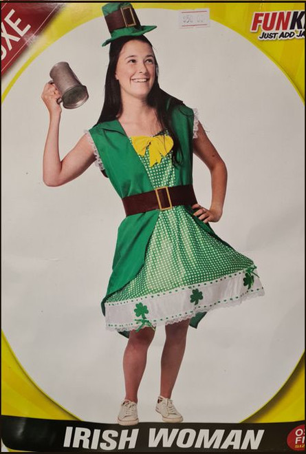 Irish woman costume for St Patrick's day fancy dress party
