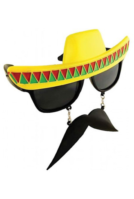 mexican hat with attached moustache sunnies