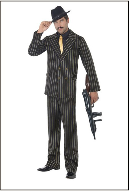Gangster Gold Pin Stripe Suit