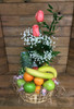 Fresh Fruit and Blooms Basket