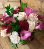 Calla Cube with Roses
