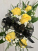 Golden yellow and black sparkle Corsage