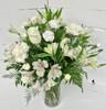 Elegant Little Fresh Vase in Creams, Whites, and Greens