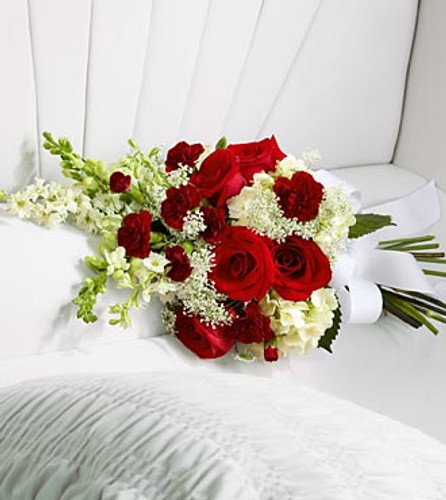 Forever In Our Hearts Casket Bouquet