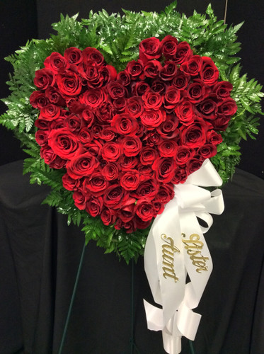 Large Standing Heart Wreath