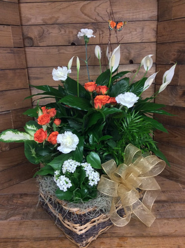 Mixed Planter With Fresh Flowers