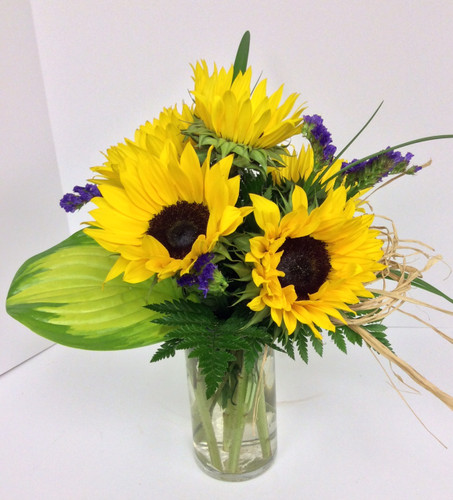 1/2 Dozen Sunflowers Arranged