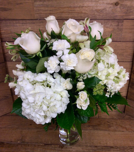Garden of Glory Traditional Celebration Arrangement In Whites and Creams