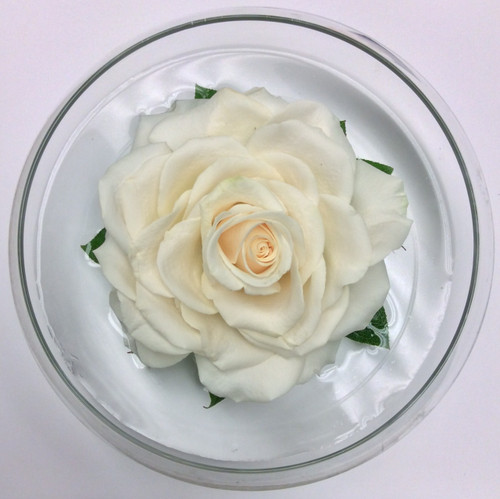 Hand-made Composite Rose in Bowl