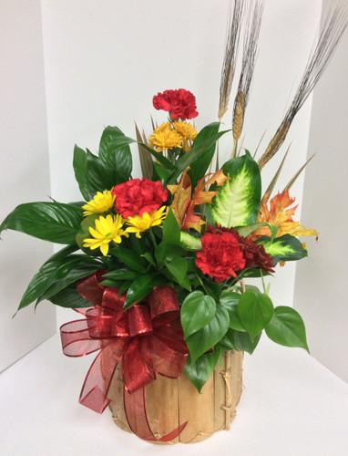 Medium fall planter with fresh
