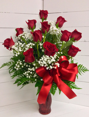 My Forever Love Medium Stem Dozen Rose Bouquet