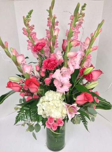 Dreaming in Pinks Mixed Vase