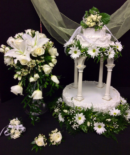 White and Cream Wedding Package
