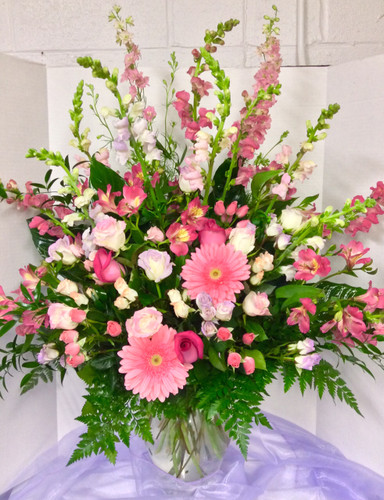 Large Pastel garden Mixed Vase Arrangement
