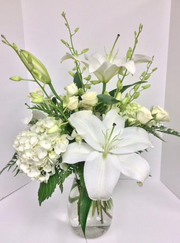 White Light Mixed Vase