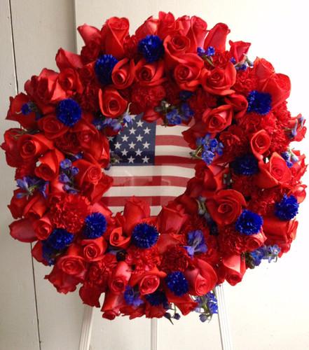 Patriotic Memorial Tribute Wreath