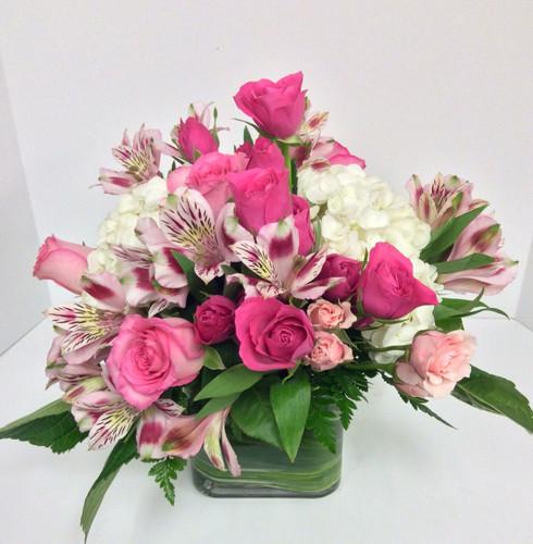 Pink Rose Garden Cube