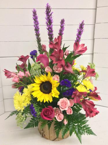 Wildflower fresh garden basket