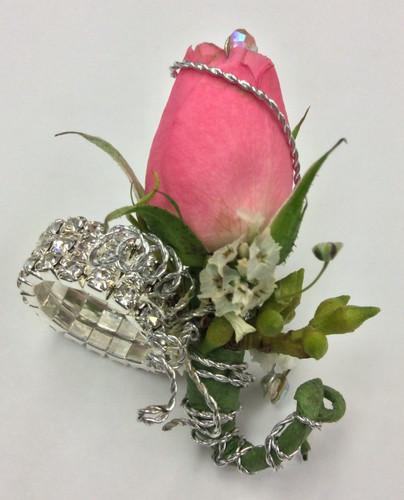 Jeweled Keepsake Ring with Sweetheart and Rhinestones