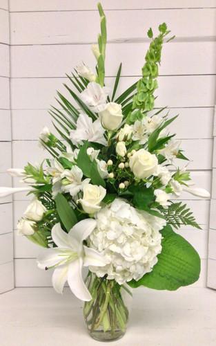 Stylish White Garden Vase
